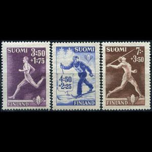 FINLAND 1945 - Scott# B71-3 Sports 3.5-7m NH no gum
