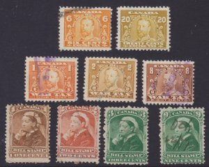 Mix - Canada Revenue includes War Tax stamps used