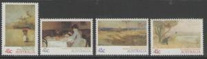AUSTRALIA SG1212/5 1989 IMPRESSIONIST PAINTINGS MNH