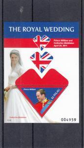 Palau 2011 MNH Royal Wedding Prince William & Kate S/S II Royalty Stamps