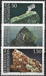 1989 Liechtenstein Beautiful Minerals, complete set VF/MNH! LOOK!