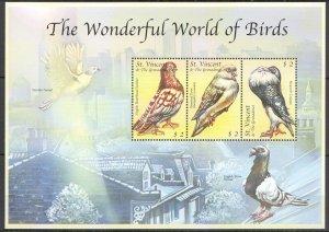Z0121 ST.VINCENT FAUNA THE WONDERFUL WORLD OF BIRDS KB MNH