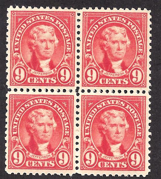 561 Mint,OG,NH... Block of 4... SCV $108.00