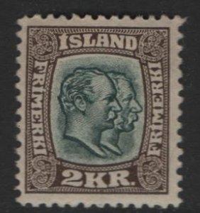 ICELAND, 84, HINGED, 1907-08 Kings Christian IX and Frederik VII