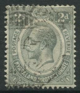 STAMP STATION PERTH Nyasaland #14 KGV 1913 Used Wmk 3 CV$1.00.