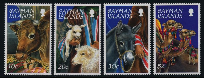 Cayman Islands 710-3a MNH Christams, Animals, Donkey, Camels, Sheep, Ox