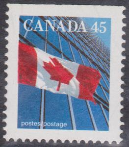 Canada USC #1361ds Mint VF-NH 1995 45c CBN EX Bklt. Perf. 13.6x13.8 Straight Edg