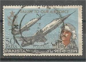 PAKISTAN, 1965, used 50p, Air Force emblem, Scott 221