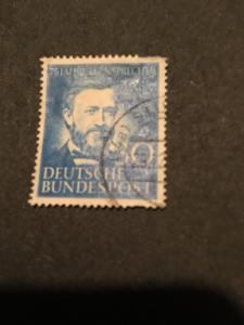 Germany #693 Used VF 2015 Scott $14. 1952 30Pf Philippe Reis