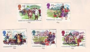 Great Britain  Sc 1572-6 1994 Summer Events stamps used