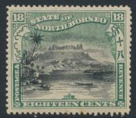 North Borneo SG 108d MH  SC#87   perf 14½ x 15  see details & scans