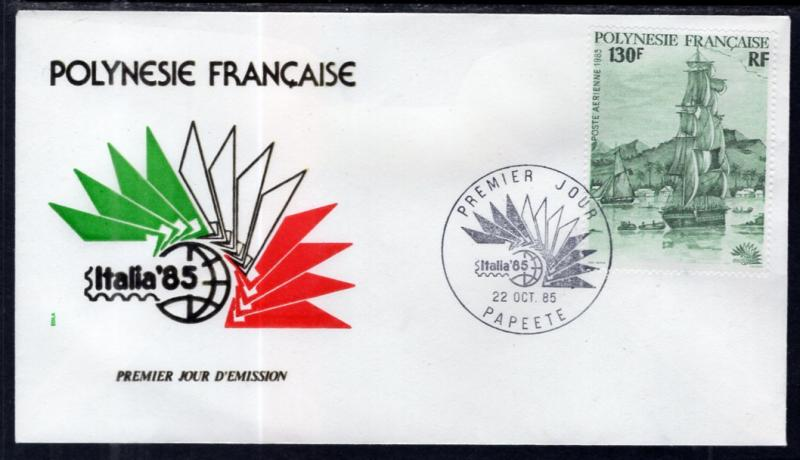 French Polynesia C215 Sailing Ship U/A FDC