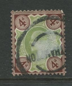 STAMP STATION PERTH: Great Britain  #133  Used 1902 Single 4p Stamp