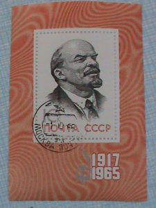 RUSSIA STAMP:1965-SC#3113-  48TH ANNIVERSARY OF THE OCTOBER REVOLUTION CTO S/S