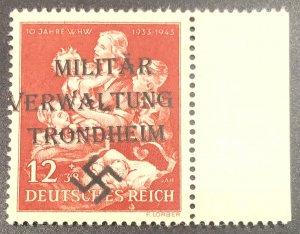 Germany-1944 W/W-Mother /Child -Nazi Swastika  Hitler Ovpt-MNH