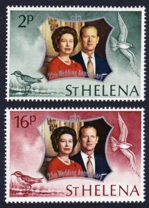 St. Helena Royal Silver Wedding 2v SG#289-290 MI#258-259
