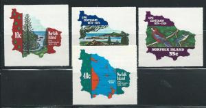 Norfolk Island 181-4 1974 100th UPU set MNH