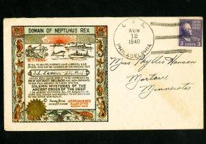 US 1940 Neptunus Rex Stamp Cover