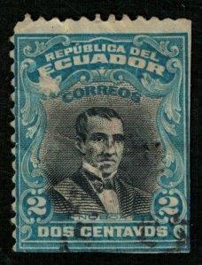 1907, Diego Noboa, 1789-1879 Presidents of Ecuador, 2c YT #148 (RT-437)