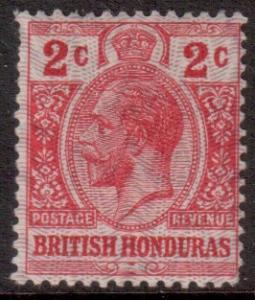 Br Honduras Scott 86 - SG112, 1915 Moire Overprint 2c MH*