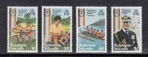 Solomon Islands Scott #453-456 MNH