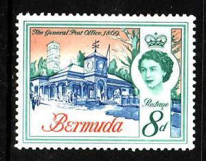 Bermuda-Sc #181-unused NH 8p General Post Office-1962-5-