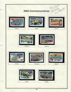 3561-3610 34cent GREETINGS FROM AMERICA MINT SINGLES ON ALBUM PAGES - W14