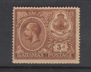 Bahamas -Scott 68 - Definitive - KGV -1920 - MH - Single 3p Stamp