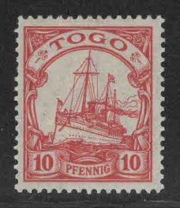 TOGO Scott 9 MH* Kaisers Yacht German Colony period CV $20