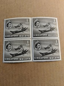 Ships Singapore Block of Four MNH