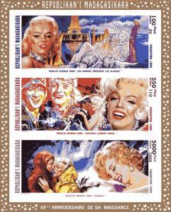 Madagascar 95 Marilyn Monroe Shlt Collective Impe.Sc.1289-91