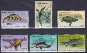 CUBA Sc# 5384-5389  CARIBBEAN REPTILES lizards CPL SET of 6   2013   mint MNH