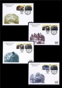 GUINEA STAMPS 2001 UN WWII WW2 WAR SET OF 4 MAXIMUM CARD GOLD PRINTING VF