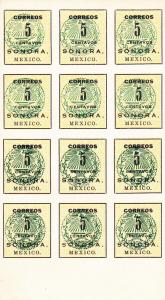 Mexico # 407, Imperf Block of 12, Mint NH