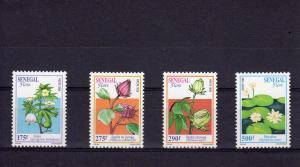 Senegal 1996 Flora set (4v) mnh vf  Michel # 1410-1413