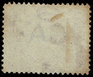 FALKLAND ISLANDS QV 1885-91 1d PALE CLARET UNUSED (MH) SG7 Wmk.C CA Sway P14 FC