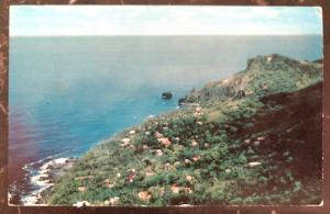1950s Pitcairn Island RPPC Postcard Cover To Pittsburg PA USA Island View