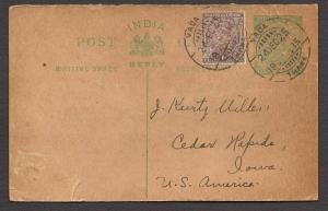 NEAT 1925 POSTAL CARD TO U.S.