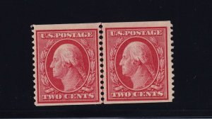 353 Line pair VF-XF OG previous hinged SPA cert nice color cv $ 750 ! see pic !