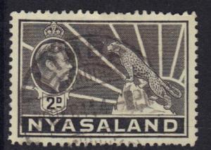 Nyasaland 1938  used  George  VI   2 d  grey   #