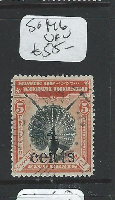 NORTH BORNEO (P2207B) 4C/5C BIRD SG146  VFU
