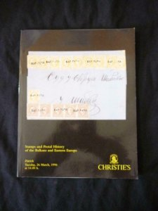 CHRISTIE'S AUCTION CATALOGUE 1996 BALKANS AND EASTERN EUROPE