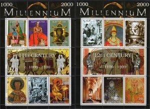 Kyrgyzstan 1999 MILLENNIUM (1000-2000) 9 Sheetlets of 6 + 3 Sheetlets of 8 MNH
