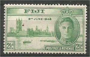 FIJI, 1946, MH 21/2p, Peace Issue, Scott 137 mark