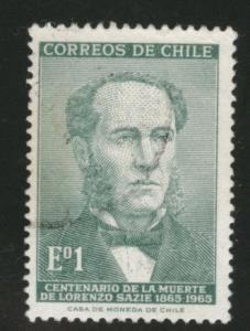 Chile Scott 351 used stamp 1966