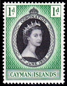 CAYMAN IS - 1953 - QE II - CORONATION ISSUE - # 150 - MINT - MNH SINGLE!