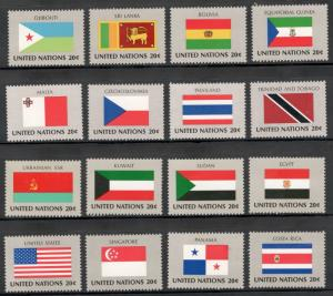 UN 350-365 Complete Flag Set Of 16 Mint/nh (Free Shipping)