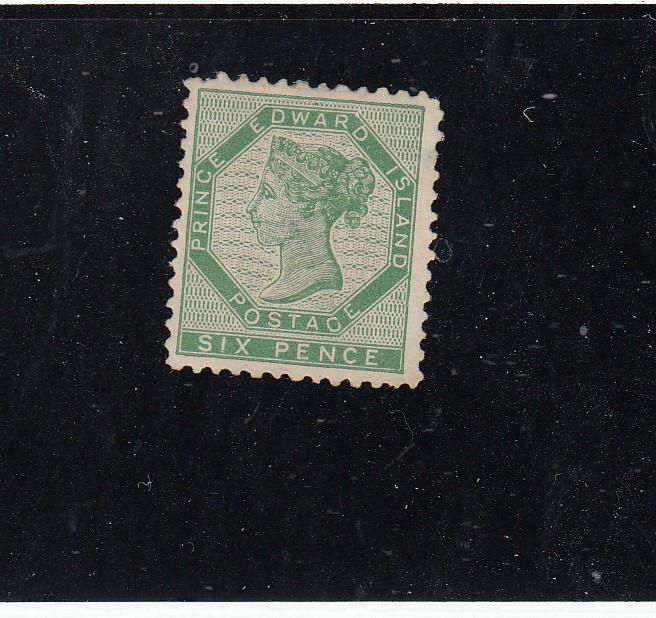 PRINCE EDWARD ISLAND # 7 VF-MNG 6cts GREEN CAT VALUE $100
