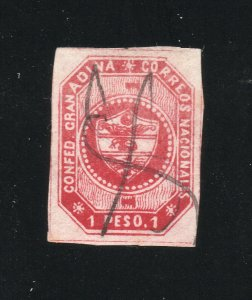 Colombia - Sc# 7 Used / pen cancel     -    Lot 0120017