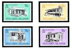 Pitcairn Is 285-88 MNH 1987 Island Houses          (KA)